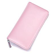お買い得  バッグ-男女兼用 バッグ レザー クラッチ ジッパー ピンク / フクシャ / コーヒー
