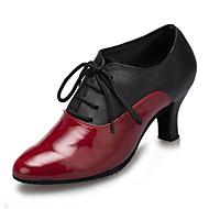 billige Moderne sko-Moderne Kunstlær Joggesko Trimmer Stiletthæl Svart Rød Kan spesialtilpasses