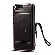 billiga Mobil cases & Skärmskydd-fodral Till Xiaomi Mi Note 3 Korthållare / med stativ Skal Enfärgad Hårt PU läder för Mi Note 3