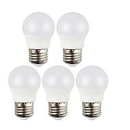 billige Globepærer med LED-5pcs 5W 450 lm E27 LED-globepærer 6 leds SMD 2835 LED Lys Varm hvit Kjølig hvit AC 220-240V