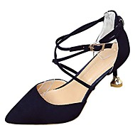 cheap Women's Heels-Shoes Rubber Spring / Fall Comfort Heels Low Heel Pointed Toe White / Black