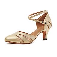 billige Moderne sko-Moderne Kunstlær Joggesko Trimmer Stiletthæl Gull Sølv Kan spesialtilpasses