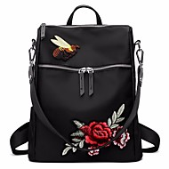 cheap Backpacks-Women's Bags Oxford Cloth Backpack Embroidery for Casual All Seasons Black