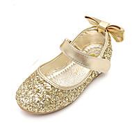 baratos Sapatos de Menina-Para Meninas Sapatos Glitter Primavera / Outono Conforto / Inovador / Sapatos para Daminhas de Honra Rasos Laço / Velcro para Dourado /