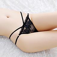 Žene Tange Ultra seksi gaćice Tanko, Cvjetni print Žakard Sexy Rastezljivo Akril 1 Obala Crn Red