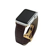 billiga Smart klocka Tillbehör-Klockarmband för Apple Klocka Serie 2 / Apple Klocka Serie 1 Apple Modernt spänne Äkta Läder Handledsrem