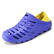 sapatos Couro Ecológico Primavera Verão Conforto Sandálias para Casual Preto Laranja Cinzento Azul