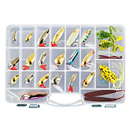 cheap Fishing-138 pcs Hard Bait Soft Bait Flies Lure kits Fishing Lures Metal Bait Lure Packs Vibration/VIB Popper Pencil Crank Minnow Flies Jerkbaits