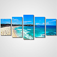 cheap Prints-Stretched Canvas Print Five Panels Canvas Horizontal Print Wall Decor Home Decoration