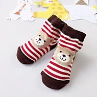 billige Undertøj og sokker til babyer-Unisex Trikotage Stribet Trykt mønster, Bomuld Forår Efterår Afslappet Elastisk Rød