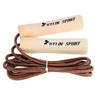 baratos Equipamentos & Acessórios Fitness-Saltar a corda de couro de vaca com salto sólido com alças de madeira sólida atividade física / exercita para crianças