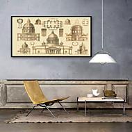 billige Innrammet kunst-Arkitektur Still Life Tegning Veggkunst,PVC Materiale med ramme For Hjem Dekor Rammekunst Stue Kjøkken Spisestue Soverom Kontor Barnerom