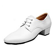 billige Moderne sko-Herre Moderne Lær Oxford Lav hæl Hvit Kan spesialtilpasses