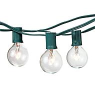 25ft grün draht g40 string licht warmweiß vernetzbar dekorativ ac110-120v 50 lampen betrieben