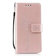 billiga Mobil cases & Skärmskydd-fodral Till Wiko Korthållare Plånbok med stativ Lucka Läderplastik Flamingo Hårt för