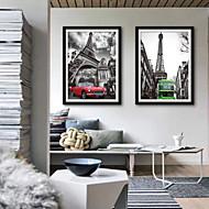 billige Innrammet kunst-Arkitektur Transport Tegning Veggkunst,PVC Materiale med ramme For Hjem Dekor Rammekunst Stue Kjøkken Spisestue Soverom Kontor Barnerom