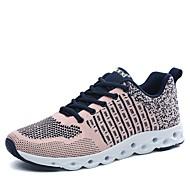 baratos Sapatos Masculinos-Homens Couro Ecológico Primavera / Outono Conforto Tênis Preto / Cinzento / Rosa claro