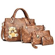 Χαμηλού Κόστους Σετ τσάντες-Γυναικεία Τσάντες PU Σετ τσάντα 4 σετ Σετ τσαντών Φερμουάρ Ρουμπίνι / Μπεζ / Καφέ
