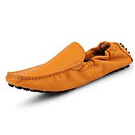 tanie Obuwie męskie-Męskie Buty Skórzany Nappa Leather Wiosna Jesień Comfort Mokasyny i pantofle na Casual Black Orange Dark Blue Brown Wine