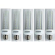 billige Kornpærer med LED-5pcs 19W 1500 lm E27 LED-kornpærer T30 96 leds SMD 3528 Varm hvit AC 110-240V