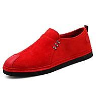 tanie Obuwie męskie-Męskie Buty Nylon Wiosna Lato Comfort Mokasyny i pantofle na Casual Na wolnym powietrzu Black Czerwony