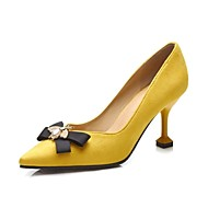 cheap Women's Heels-Women's Shoes Glitter Spring Fall Novelty Basic Pump Heels Stiletto Heel Pointed Toe for Wedding Party & Evening Black Yellow