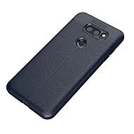 billiga Mobil cases & Skärmskydd-fodral Till LG V30 Q6 Frostat Läderplastik Skal Ensfärgat Mjukt TPU för LG V30 LG Q6 LG K10 (2017) LG G6