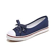 Mujer Zapatos Tela Verano Confort Zapatillas y flip-flops Tacón Plano Amarillo / Rojo / Azul Claro uaXt4Ixj8