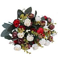 2 Podružnica Polyester Roses Cvjeće za stol Umjetna Cvijeće