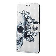 billiga Mobil cases & Skärmskydd-fodral Till Vivo X20 Plus X20 Korthållare Plånbok med stativ Lucka Magnet Mönster Fodral Dödskalle Hårt PU läder för vivo X20 Plus vivo