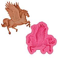 billige Bakeredskap-3d hest fondant silikon mold unicorn såpe baking molds pegasus kake dekorere verktøy