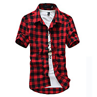 Herre - Ruder Bomuld Skjorte / Kortærmet