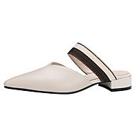 Meilleure Vente En Gros En Ligne Mujer Zapatos Ante / Piel de Oveja Primavera / Verano Confort Zuecos y pantuflas Tacón Stiletto Negro / Azul / Rosa Jeu Nouveau 2018 G7Doc