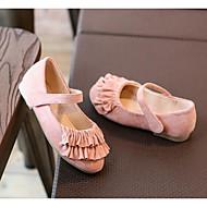 Para Meninas sapatos Pele Nobuck Primavera Outono Conforto Sapatos para Daminhas de Honra Rasos para Casual Preto Cinzento Rosa claro