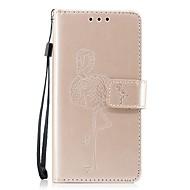 billiga Mobil cases & Skärmskydd-fodral Till Huawei P8 Lite (2017) P10 Lite Korthållare Plånbok med stativ Lucka Läderplastik Flamingo Hårt för Huawei
