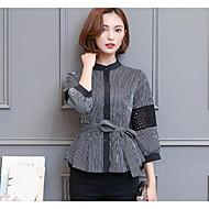 Majica Žene Prugasti uzorak Ruska kragna