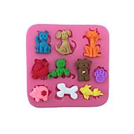 billige Bakeredskap-tegneserie dyr katter hunder bein form fondant kake silikon mold konditori sjokolade godteri ister mold