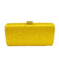 baratos Clutches & Bolsas de Noite-Mulheres Bolsas Poliéster Bolsa de Festa Detalhes em Cristal Roxo / Amarelo / Fúcsia