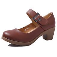 billige Moderne sko-Dame Moderne sko Syntetisk Mikrofiber PU Høye hæler Tykk hæl Kan spesialtilpasses Dansesko Beige / Brun / Rød