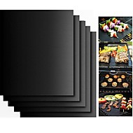 cheap -2pcs Thick ptfe Barbecue Grill Mat non-stick Reusable BBQ Grill Mats Sheet Grill Foil BBQ Liner