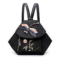 お買い得  バックパック-女性用 バッグ オックスフォード バックパック 刺繍 のために カジュアル 春 秋 ブラック