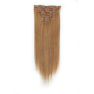 Připínací Rozšíření lidský vlas 7ks / balení 70 g / pack Stredně hnědá / Strawberry Blonde Medium Brown / Bleach Blonde Golden Brown /