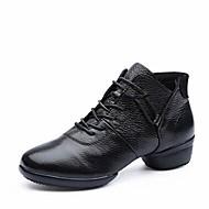baratos Sapatilhas de Dança-Mulheres Botas de Dança Pele Napa Têni / Meia Solas Salto Baixo Personalizável Sapatos de Dança Branco / Preto / Vermelho
