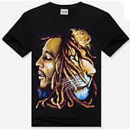 Rund hals Herre - Ensfarvet T-shirt