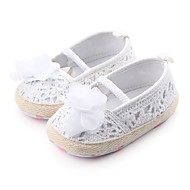cheap Kids' Shoes-Girls' Shoes Fabric Spring / Summer Crib Shoes First Walkers Comfort Flats Gore Flower for Casual Outdoor White Black Gray Red Pink