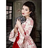 ieftine -Vintage Βικτωριανής Εποχής Rococo Costume Pentru femei Rochii Costume petrecere Mascaradă Rosu Vintage Cosplay Dantelă Bumbac Satin
