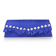 baratos Clutches & Bolsas de Noite-Mulheres Bolsas Poliéster Bolsa de Pulso Detalhes em Cristal Azul / Branco / Prata