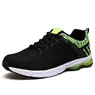 baratos Sapatos Masculinos-Homens Tule Primavera / Outono Conforto Tênis Caminhada Cinzento / Azul / Verde Escuro