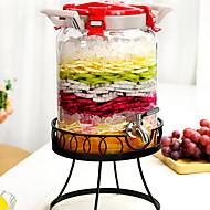 billiga Köksförvaring-Glas Rostfritt stål/järn Hög kvalitet transparent kropp Flaskor och burkar 1st Kök Organisation