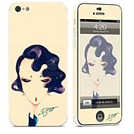 billiga Mobil cases & Skärmskydd-1 st Mobilskin för Reptålig Sexig kvinna Mönster PVC iPhone 5c